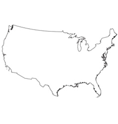 Usa out line map vector