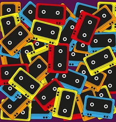 Cassette background vector