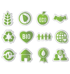 set of eco stickers vector image