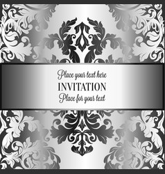 abstract background with luxury gray and metal vector image