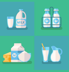 Fresh organic milk concept background with vector