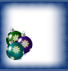 Abstract background with christmas tree balls vector