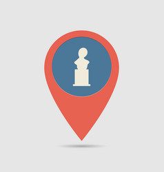 Map pin monuments vector