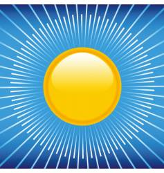 summer blue sky and sun vector image