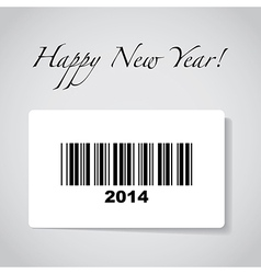 2014 barcode vector image