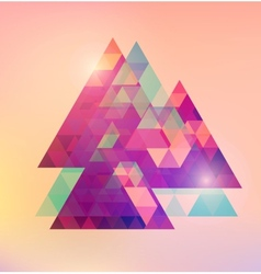 Triangular space design vector