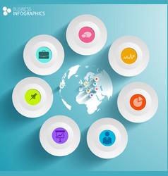 World business infographics vector