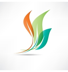 Colored leafs vector