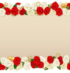 Romantic flower frame vector