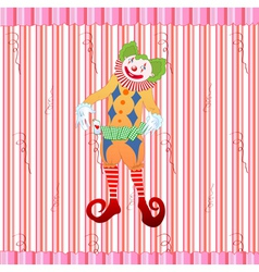Clown juggling colorful playing card vector