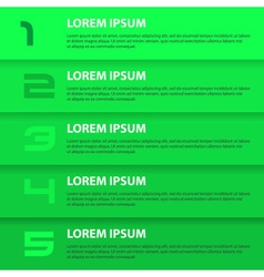 Green modern design business horizontal banners vector