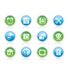 Mobile phone and computer icons vector