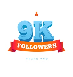 Thanks design for network friends followers vector