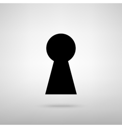 Keyhole sign vector
