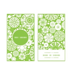 abstract green and white circles vertical round vector image vector image