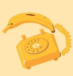 banana phone vector image