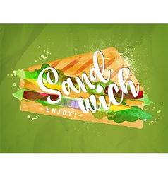 Burger sandwich green vector