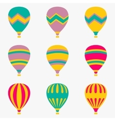 Colorful air balloon on white background vector image vector image