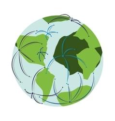 earth planet icon vector image