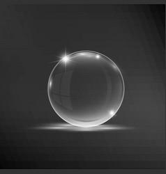 empty transparent sphere vector image vector image