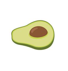 flat icon fruit avocado vector image