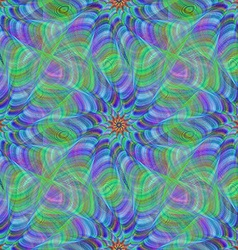Green blue colorful seamless fractal pattern vector image vector image