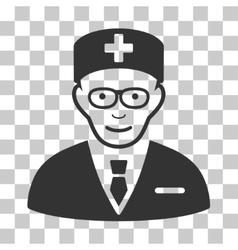 Head physician icon vector