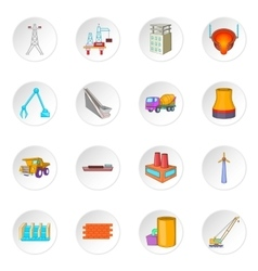 Industry icons set vector