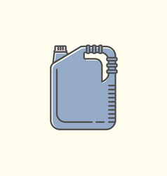 Jerrycan or canister icon symbol or sign isolated vector