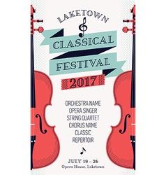 Music festival banner template vector