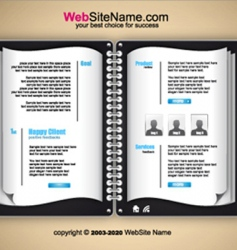 notepad web template vector image