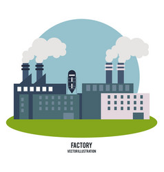 Plant smoke grass circle chimney factory ico vector