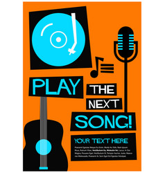 Play the next song vector