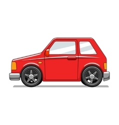 Red toy car vector image