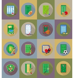 sport flat icons 79 vector image vector image