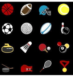 sports icon set vector image