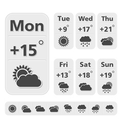 Weather Forecast Design vector image vector image