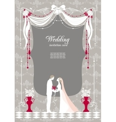 Wedding invitation with space for text vector image vector image