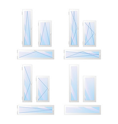 window and door types and open modes vector image