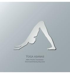 Yoga asanas adho mukha svanasana vector
