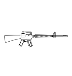 Submachine gun weapon vector