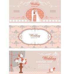 Wedding banners set vector image