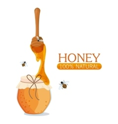 Honey healthy and organic food design vector