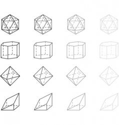 geometry figures vector image