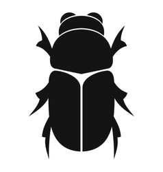 Chafer beetle icon simple style vector
