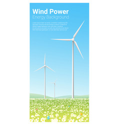 energy concept background with wind turbine 3 vector image