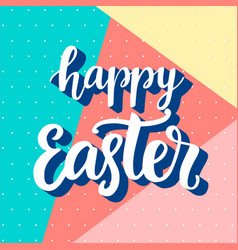 happy easter banner with modern memphis style vector image