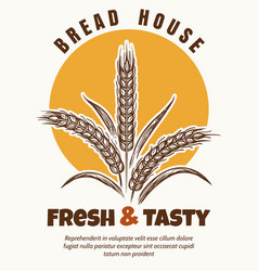 Bakery logo sketch emblem vector