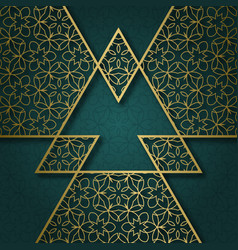 ornamental background with triangular frame vector image