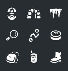 set of underground explorer icons vector image